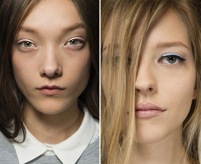 Spring/ Summer 2015 Runway Beauty Trends: Bright Liners