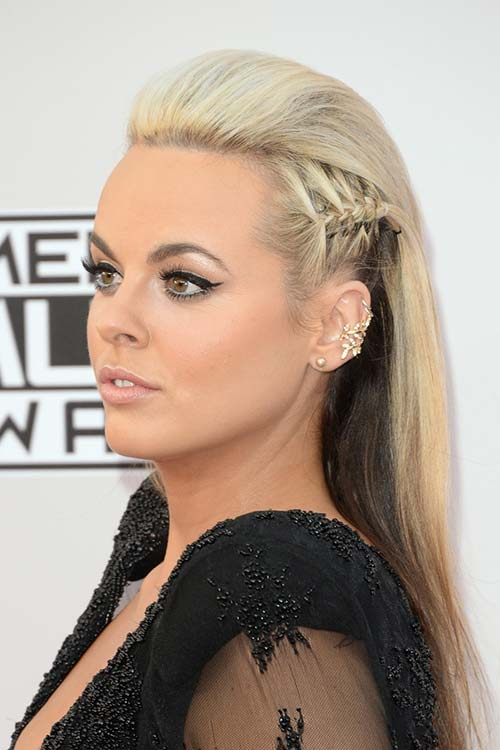 Pretty Holiday Hairstyles to Meet 2015 In Style: Long Partially Braided Hair - Katy Tiz
