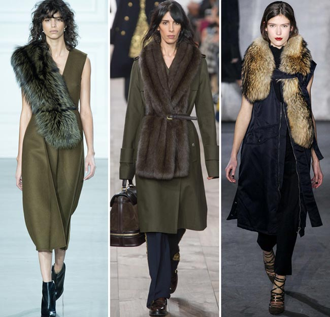 Fall/ Winter 2015-2016 Fashion Trends: Fur Stoles