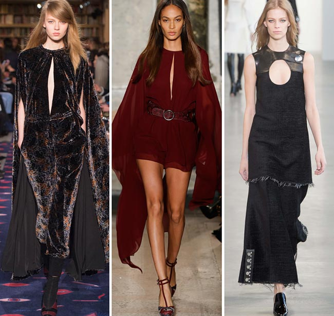 Fall/ Winter 2015-2016 Fashion Trends: Keyhole Slits