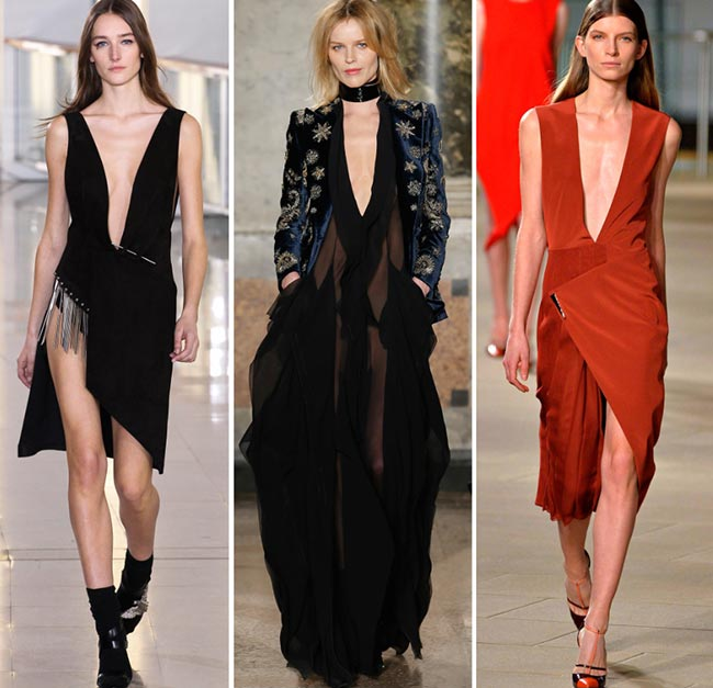 Fall/ Winter 2015-2016 Fashion Trends: Plunging Necklines
