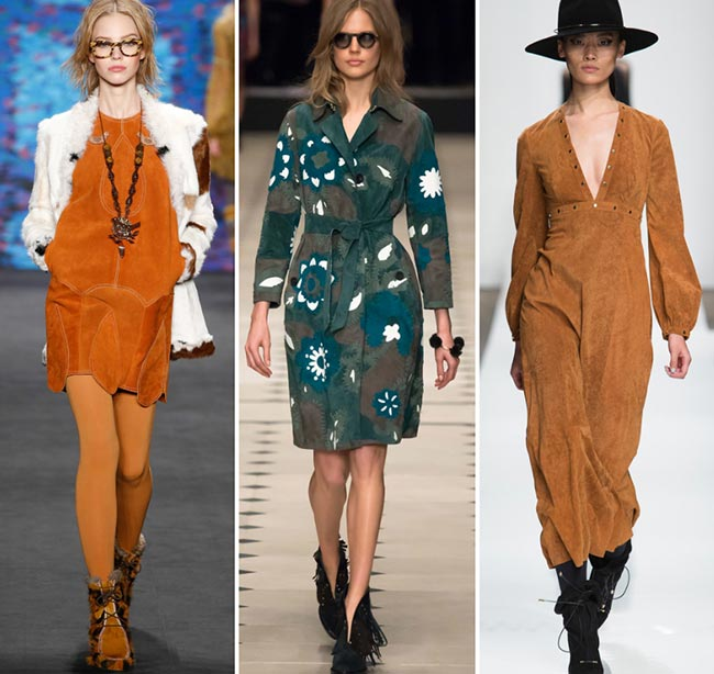 Fall/ Winter 2015-2016 Fashion Trends: Suede