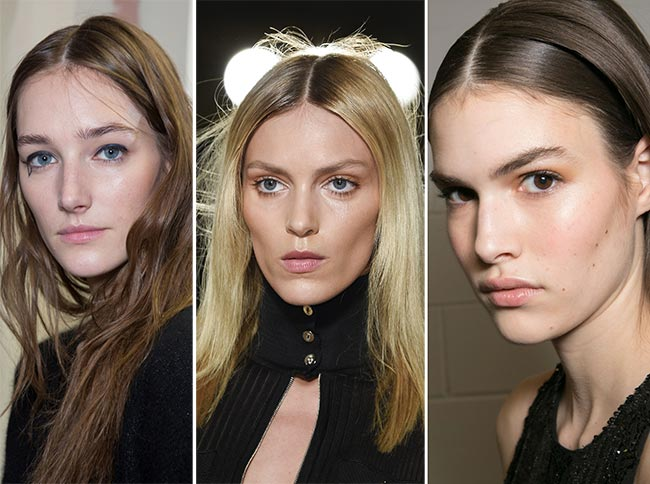 Fall/ Winter 2015-2016 Hairstyle Trends: Center Parts