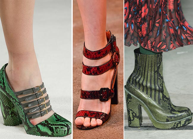Fall/ Winter 2015-2016 Shoe Trends: Reptile Skin Shoes