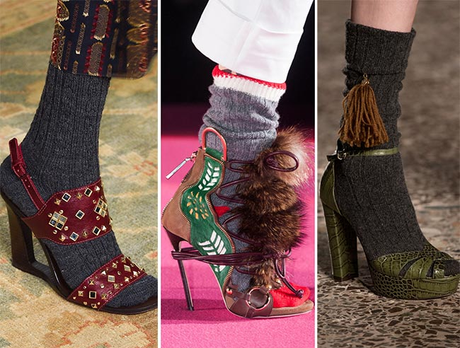 Fall/ Winter 2015-2016 Shoe Trends: Sandals With Socks