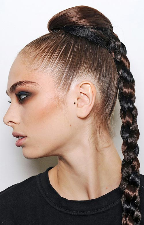 15 Killer Braided Hairstyles to Try for Coachella: Four-Stranded Braid