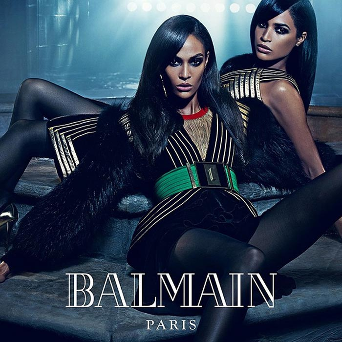 cbcb92a3 Erika and Joan Smalls for Balmain Fall 2015 Campaign
