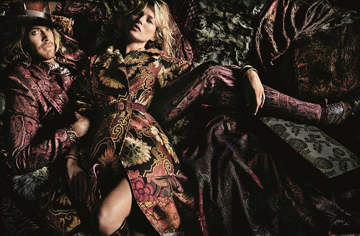 Kate Moss for Etro Fall 2015 Campaign