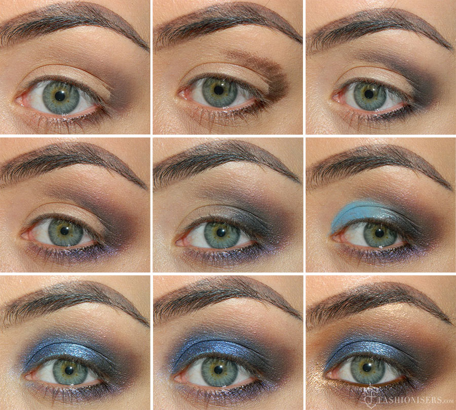 Bombshell Blue Smoky Eye Makeup Tutorial