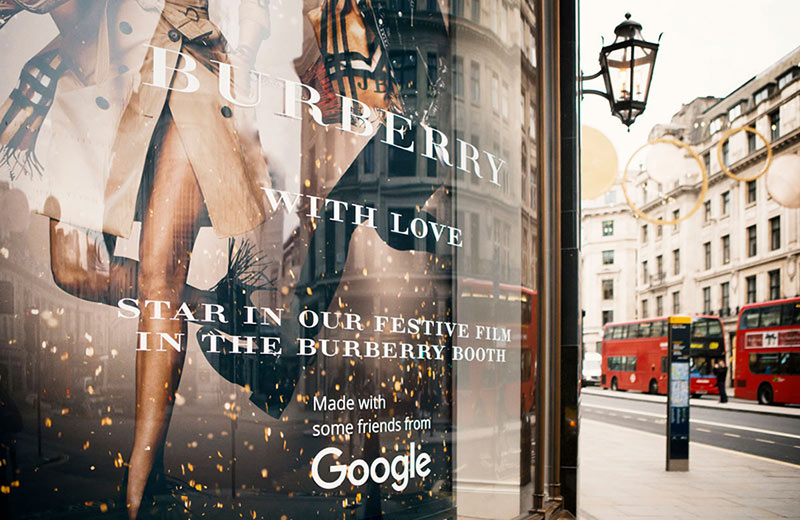 Burberry Booth Google Interactive Video Experience