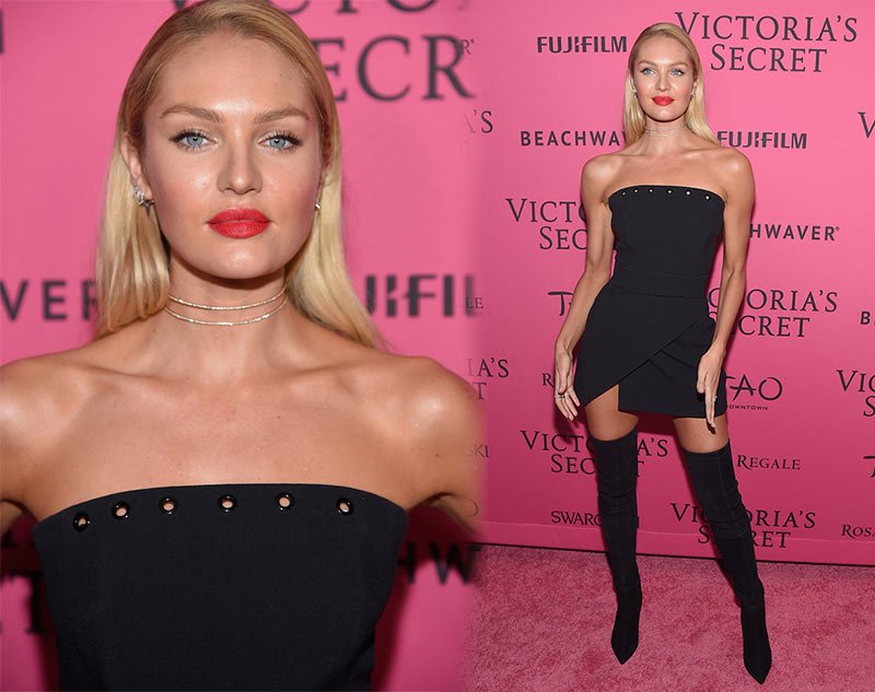 Victoria's Secret Fashion Show 2015 Pink Carpet: Candice Swanepoel