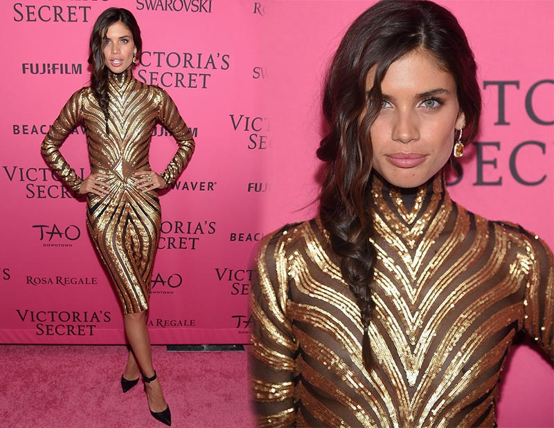 Victoria's Secret Fashion Show 2015 Pink Carpet: Sara Sampaio