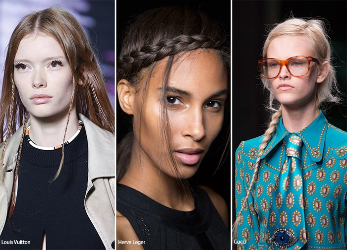 Spring/ Summer 2016 Hairstyle Trends: Tiny Plaits
