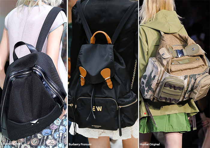 Spring/ Summer 2016 Handbag Trends: Backpacks