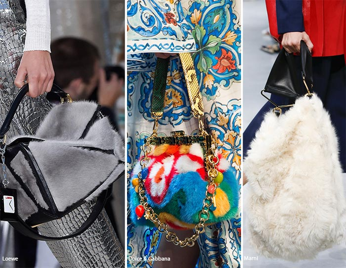 Spring/ Summer 2016 Handbag Trends: Fur Bags