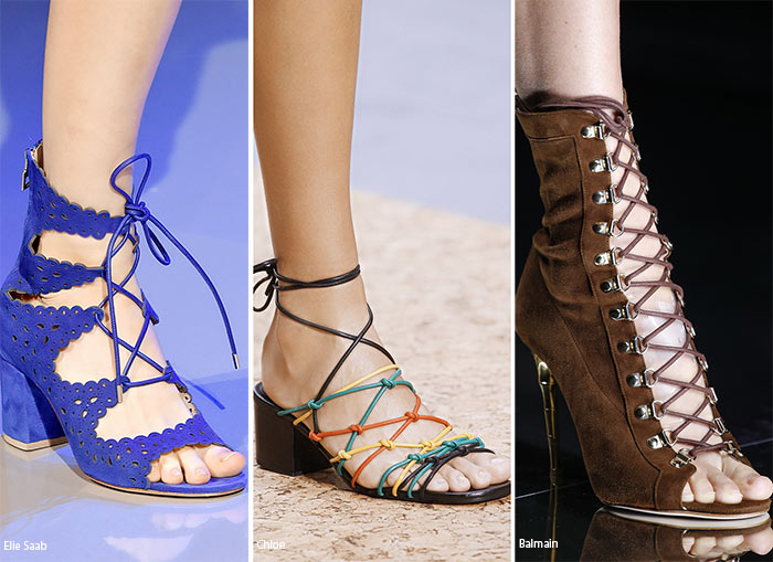 Spring/ Summer 2016 Shoe Trends: Lace-Up Shoes