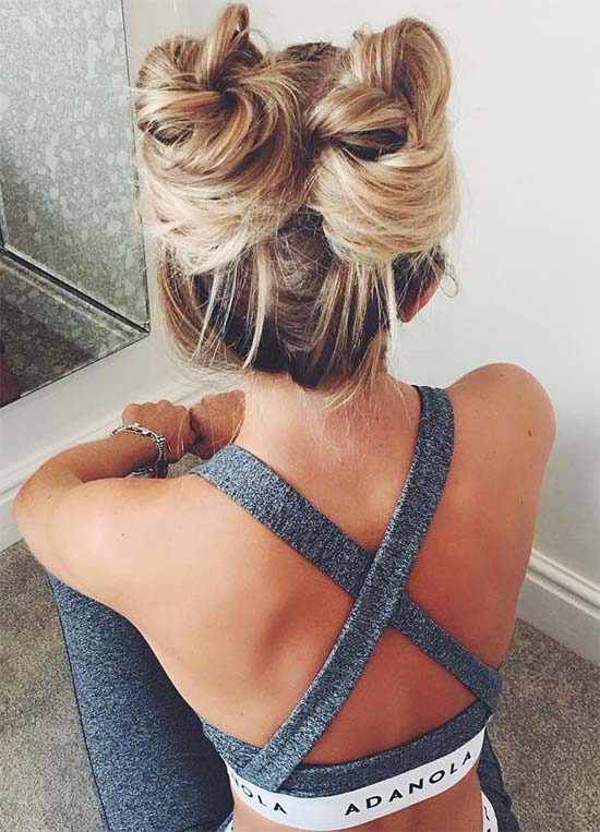 Adorable Double Top Knot
