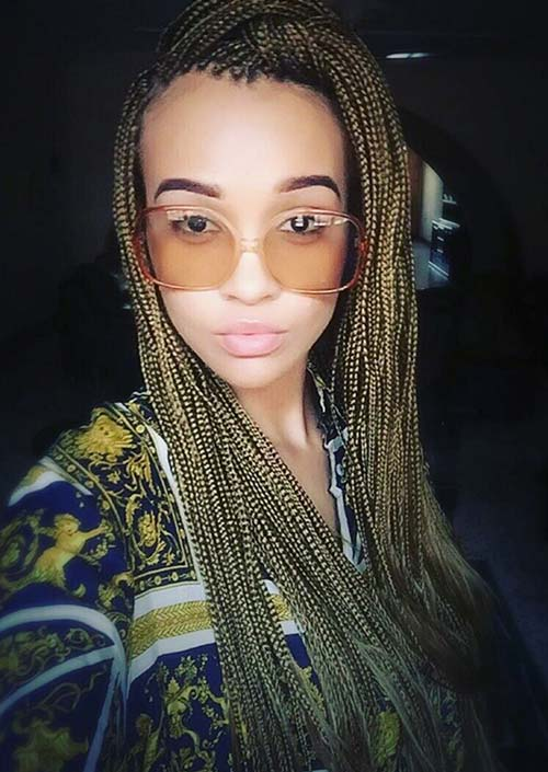 Awesome Box Braids Hairstyles: Micro Box Braids