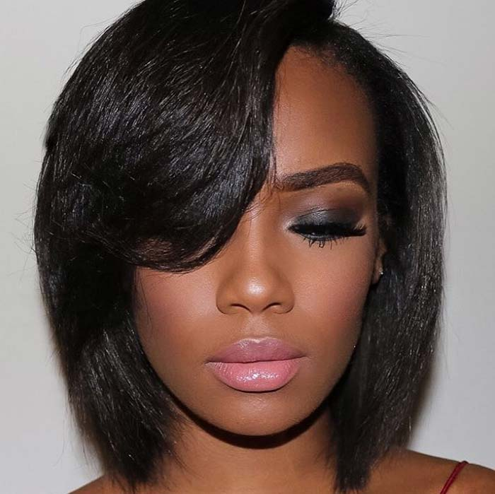 Short Hairstyles for Women: Bob With Side Bangs