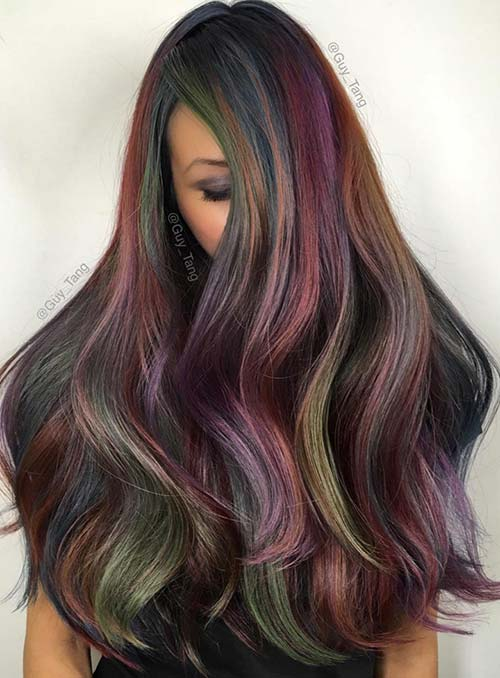 bold pastel and neon hair colors