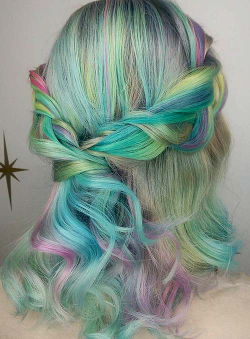 Pastel and Neon Hair Colors in Balayage and Ombre: Pastel Balayage Hair