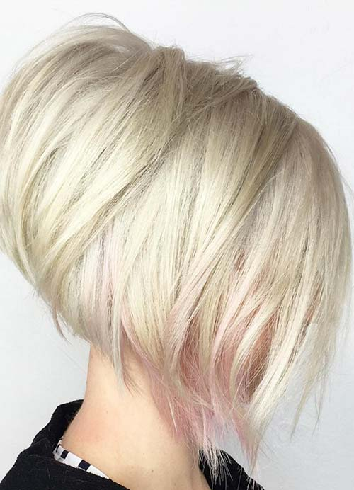 Short Hairstyles for Women with Thin/ Fine Hair: Layered Stack