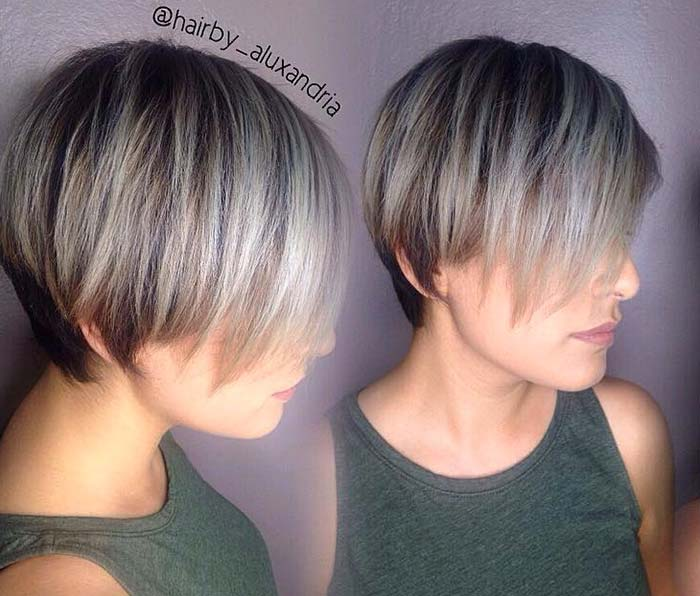 Short Hairstyles for Women with Thin/ Fine Hair: Flat Cut