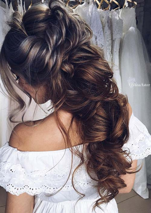 100 Trendy Long Hairstyles for Women: Bunched Long Hair