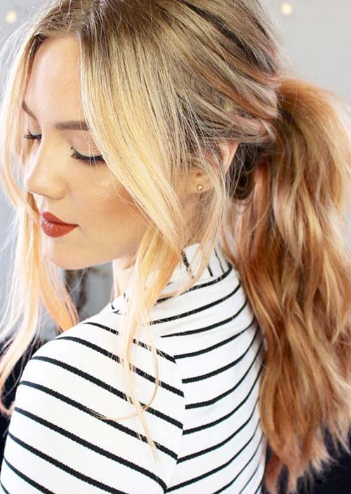 100 Trendy Long Hairstyles for Women: Full Ponytail