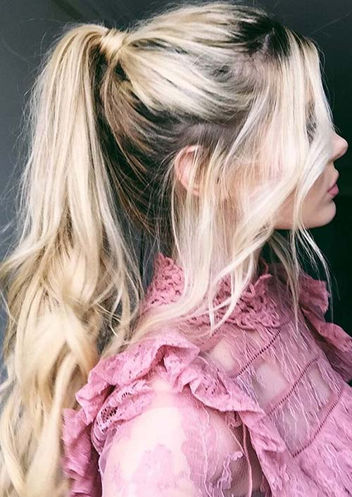 100 Trendy Long Hairstyles for Women: Textured Ponytail