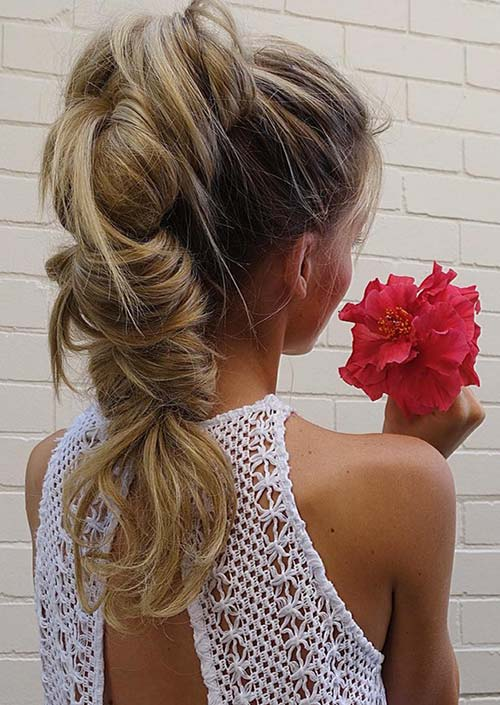 100 Trendy Long Hairstyles for Women: Bubble Braid