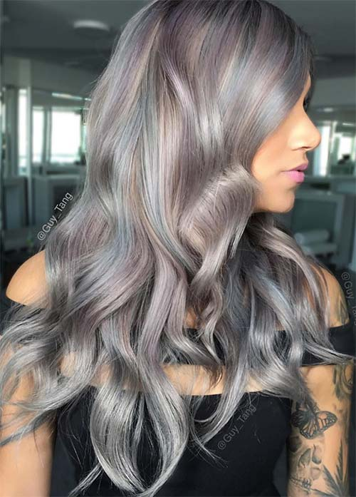 List Of Coloring Grey Hair With Highlights Pict Best Pictures