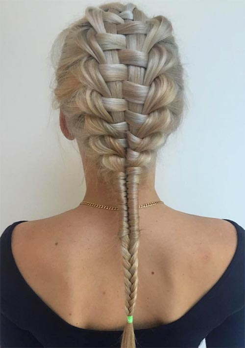 100 Ridiculously Awesome Braided Hairstyles: Zipper Braids