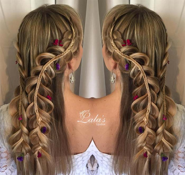 100 Ridiculously Awesome Braided Hairstyles: Rapunzel Braids