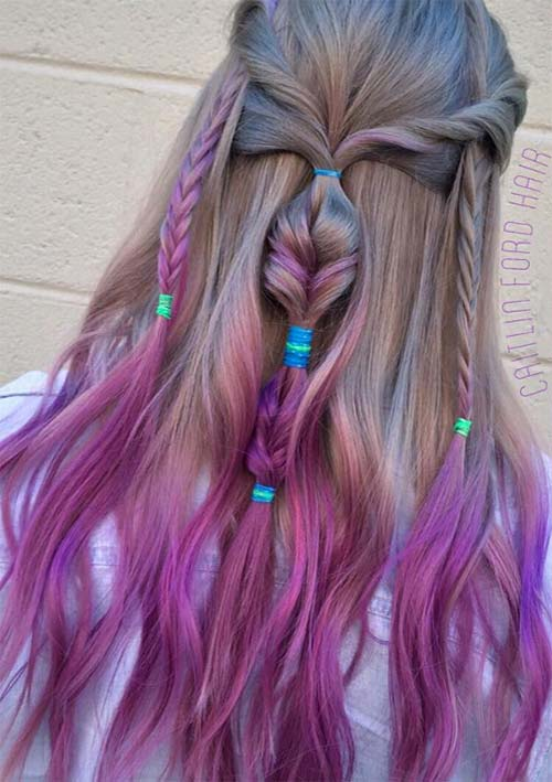100 Ridiculously Awesome Braided Hairstyles: Multitextured Braids