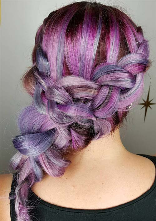 100 Ridiculously Awesome Braided Hairstyles: Y-Shaped Side Braid