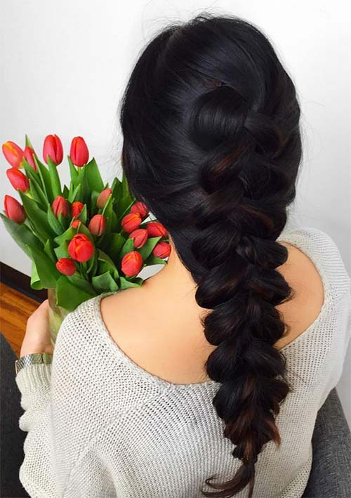 100 Ridiculously Awesome Braided Hairstyles: Loose French Braids