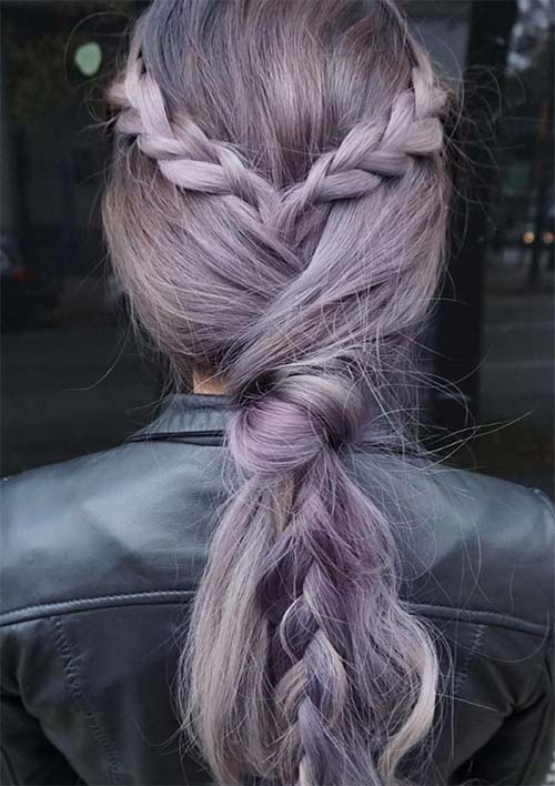 100 Ridiculously Awesome Braided Hairstyles: Braid Knotted Ponytail