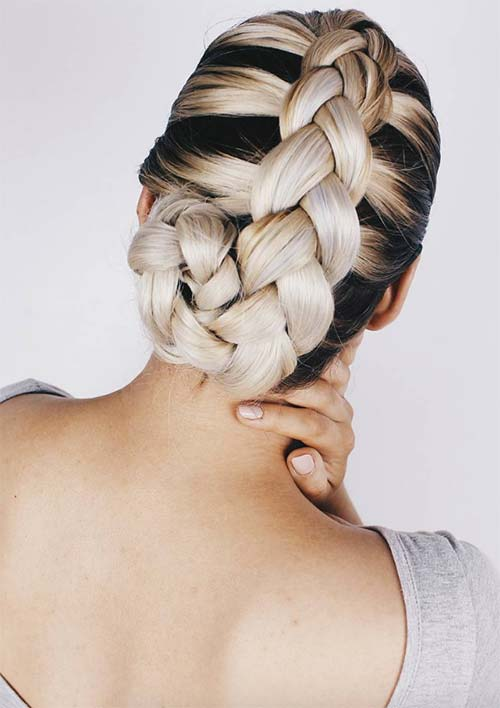 100 Ridiculously Awesome Braided Hairstyles: French Braided Updo