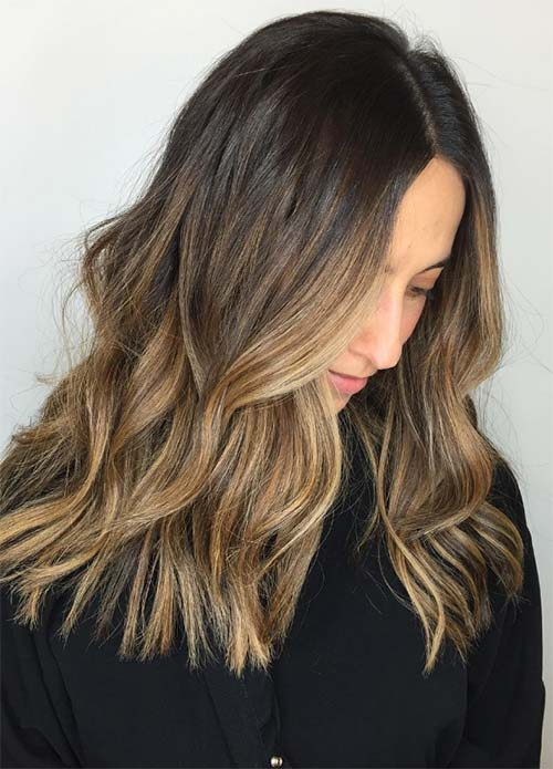 Image Result For Ombre On Long Dark Hair