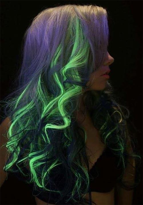 Glow In The Dark Hair Glowing Phoenix Neon Hair