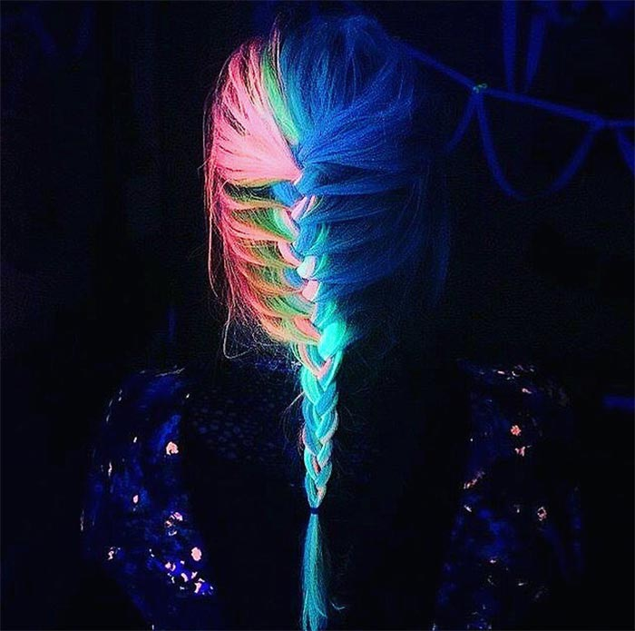 Glow-In-The-Dark Hair - Glowing Phoenix Neon Hair
