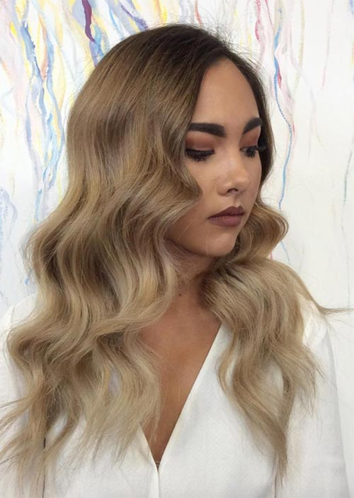 05f9d266922 Pretty Holiday Hairstyles Ideas: Bombshell Waves
