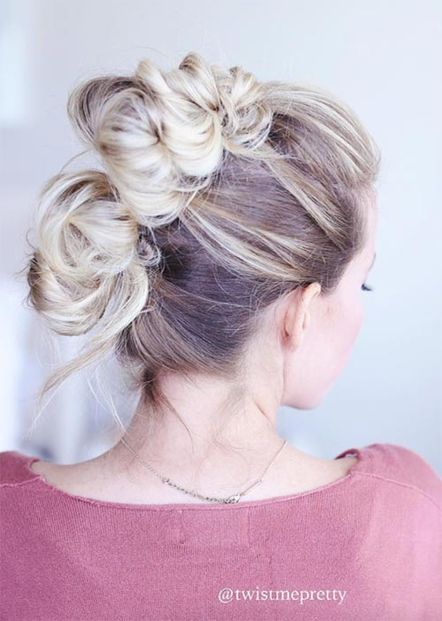 Pretty Holiday Hairstyles Ideas: Knotted Updo