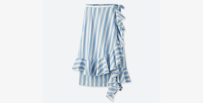 J.W. x Uniqlo Collaboration ruffled skirt