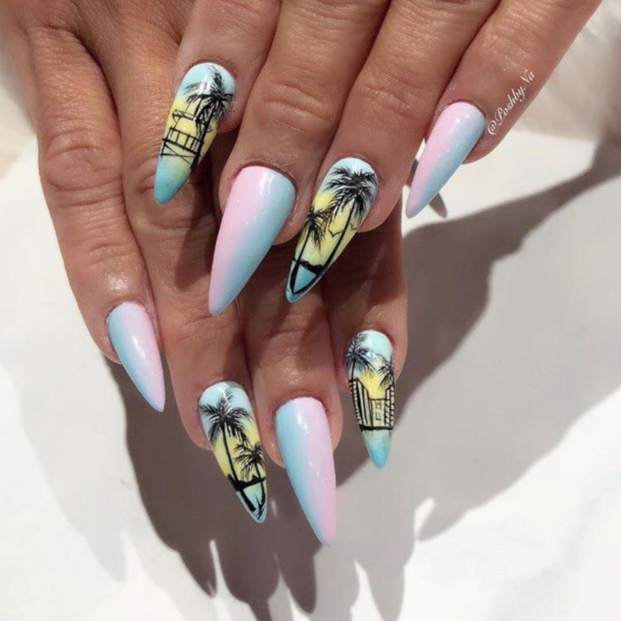 Fun Vacation Themed Nail Ideas