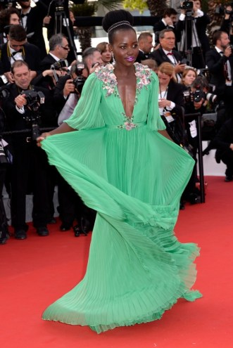 "CANNES, FRANCE - MAY 13:  Actress Lupita Nyong'o attends the opening ceremony and premiere of ""La Tete Haute"" (""Standing Tall"") during the 68th annual Cannes Film Festival on May 13, 2015 in Cannes, France.  (Photo by Pascal Le Segretain/Getty Images)"