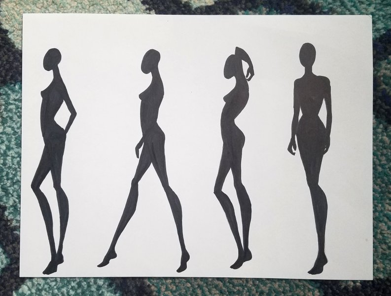 Make Your Own Fashion Figure Templates   Fashionista Sketch fashion figure templates