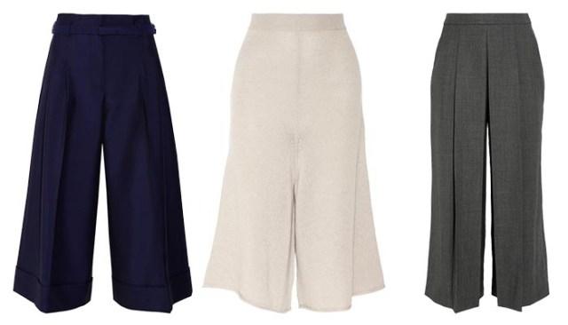 Culottes: trends fashion 2014. De wijde broek tot de enkels is terug. Alles over culottes: een broek die behoort tot één van de fashion trends 2014.