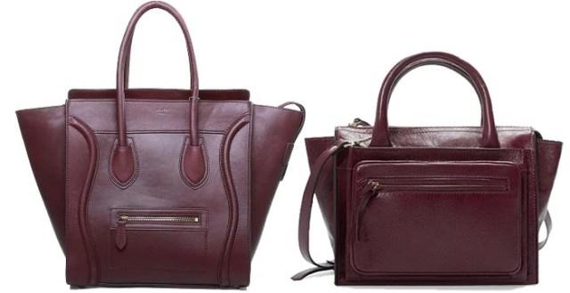 Zara kopieert Céline Luggage Bag. Modeketen Zara heeft zich weer laten inspireren door een tas. Dit keer is het de beurt aan de Céline Luggage Bag.